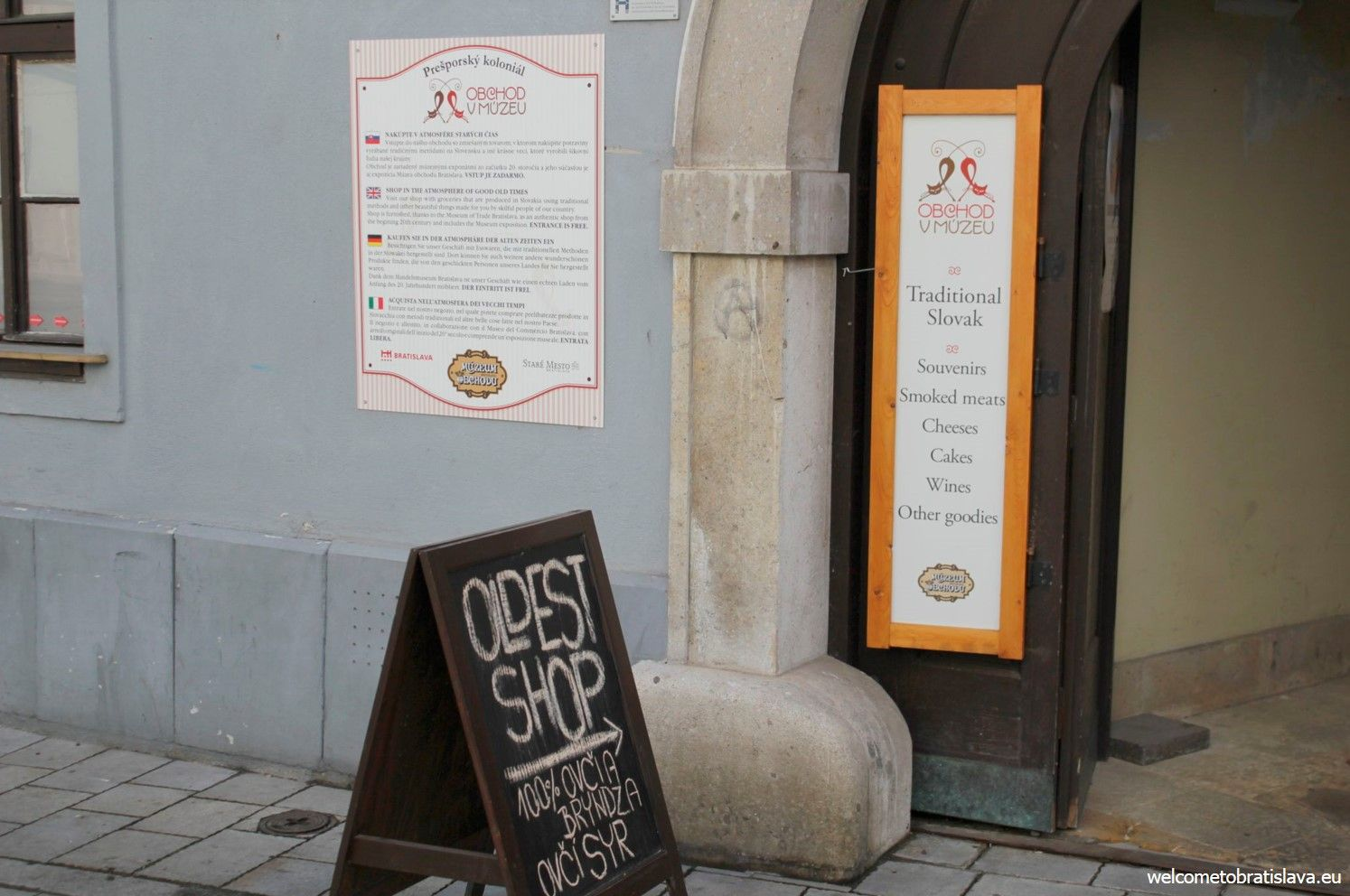 The oldest shop of Bratislava