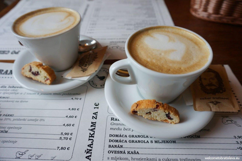 Coffee in Rannô Ptáča is fabulous