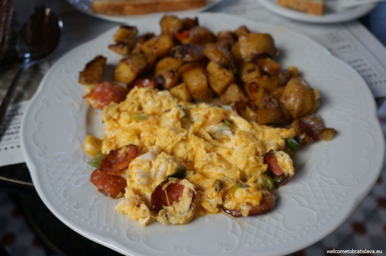You can have eggs on 7 different ways, 7 kinds of omelets or breakfast specialties