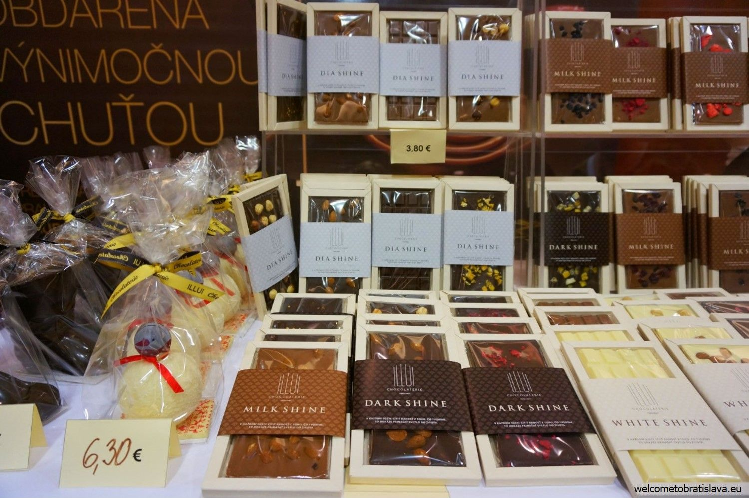 Chocolates and truffles of various flavors