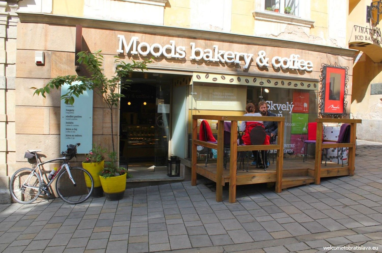 Entrance to the Moods Bakery