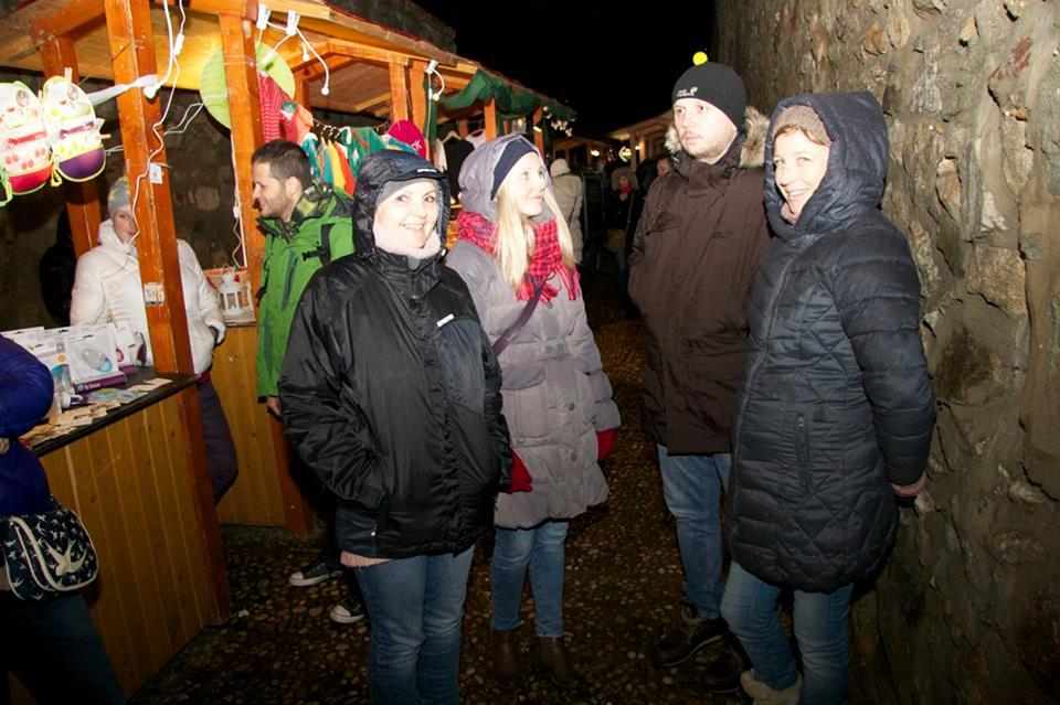 Christmas markets at the city walls