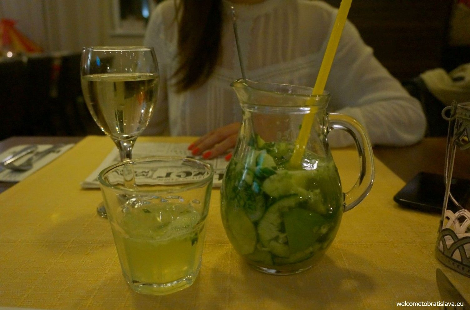 My recommendation: the cucumber lemonade