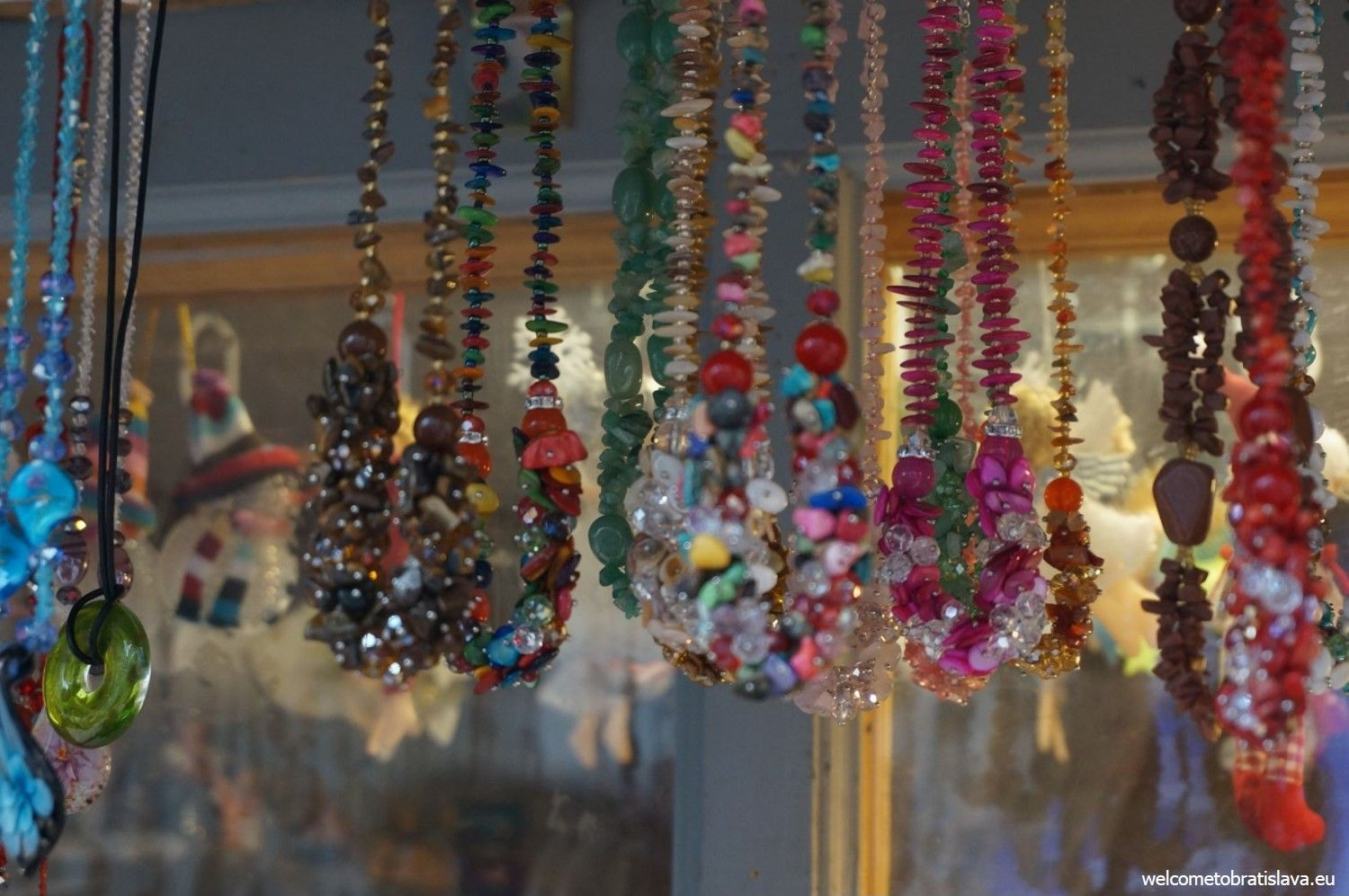 You can buy various jeweleries at the markets as well