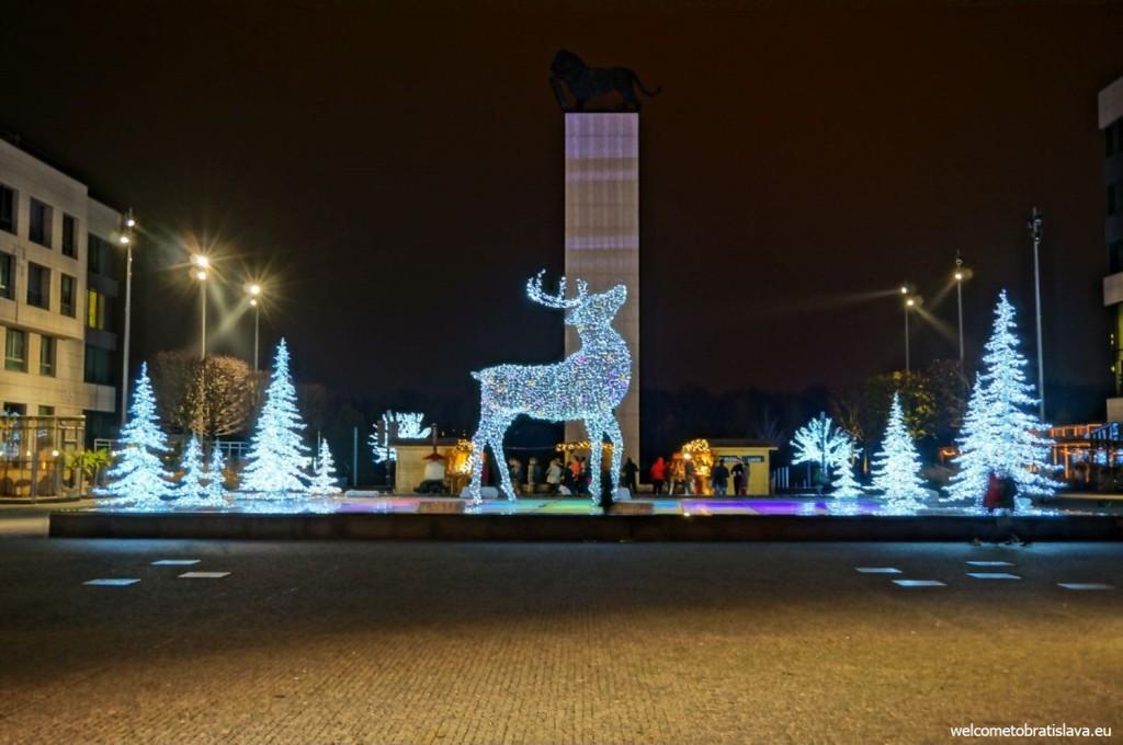 Eurovea at night