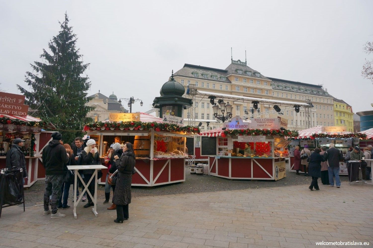 Christmas markets at our Hviezdoslav's square