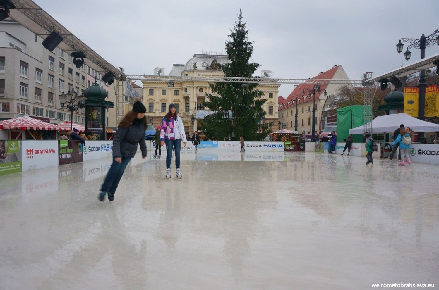 Ice rink at the Hviezdoslav's square