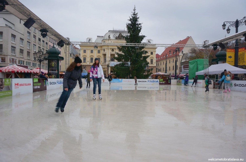 Ice rink at the Hviezdoslav's square