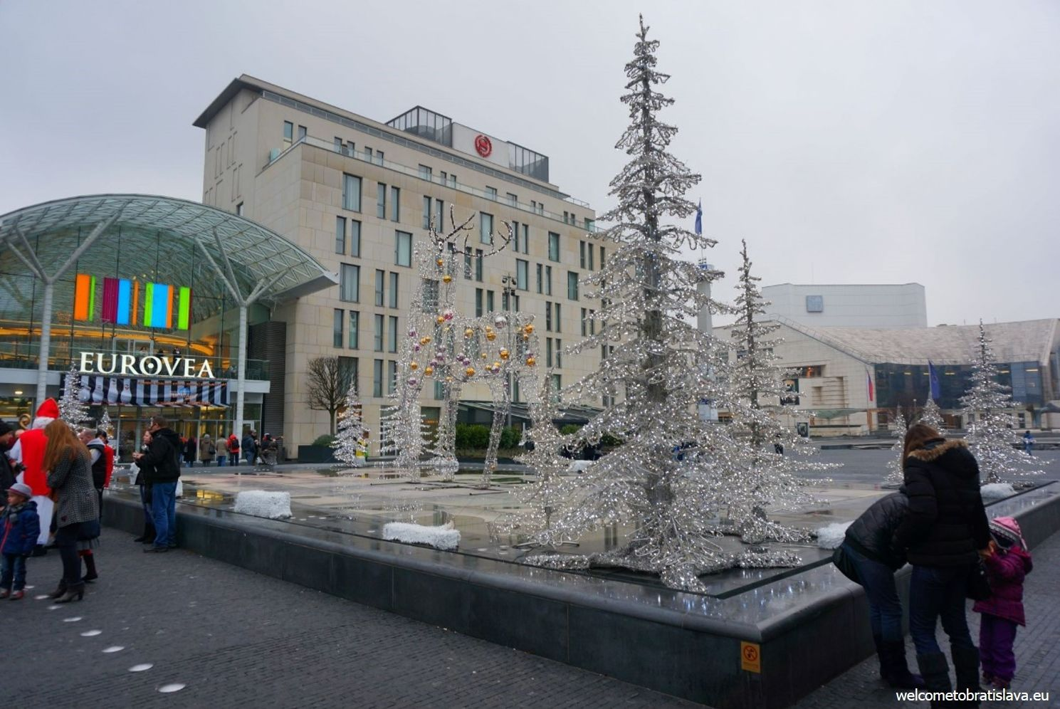 Christmas decoration at Eurovea's square