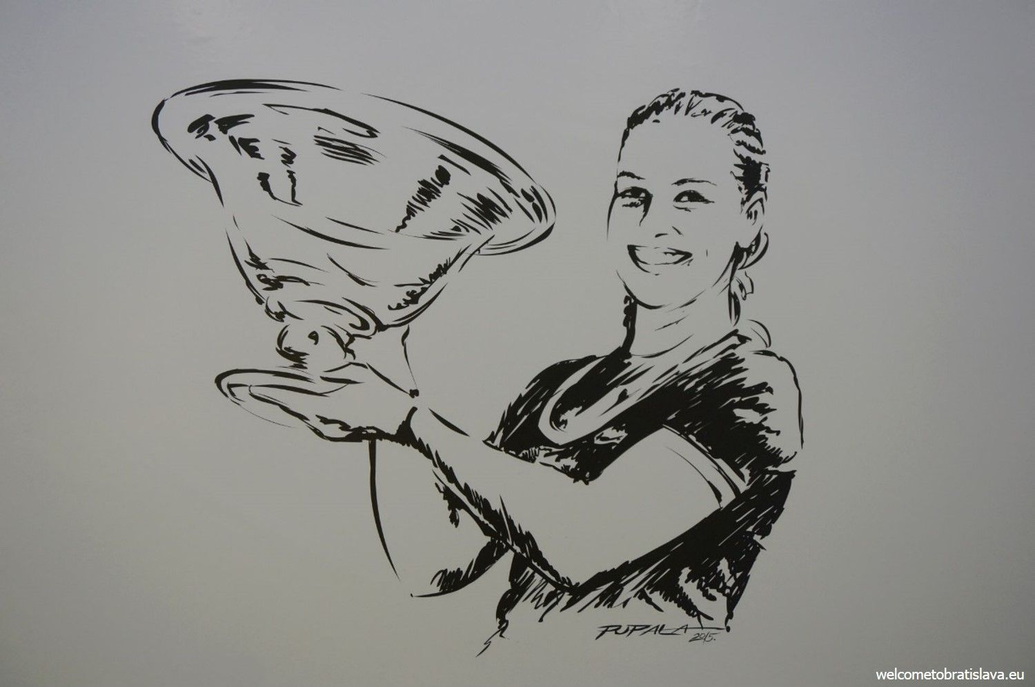 Dominika with a winning trophy
