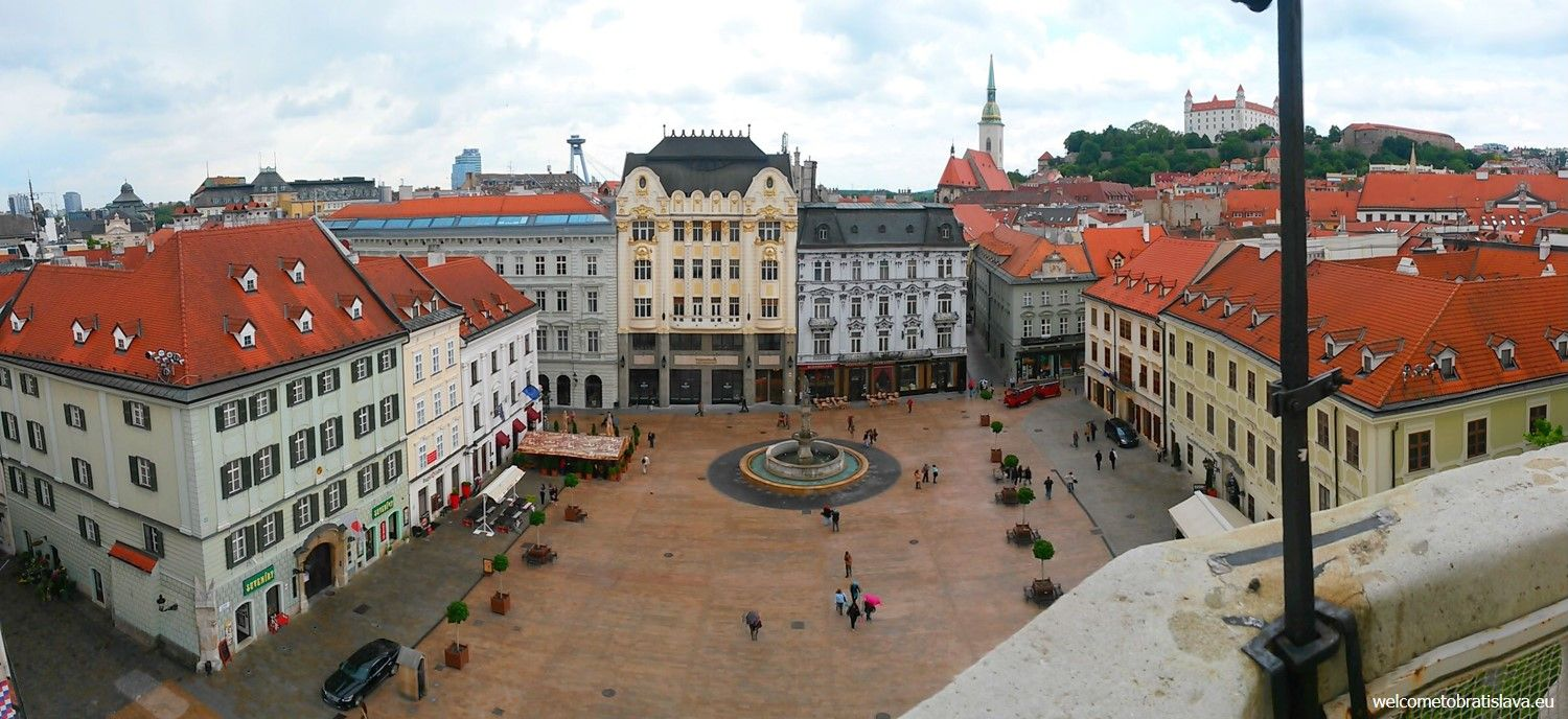 Valentines day in Bratislava - view from the Old Town Hall