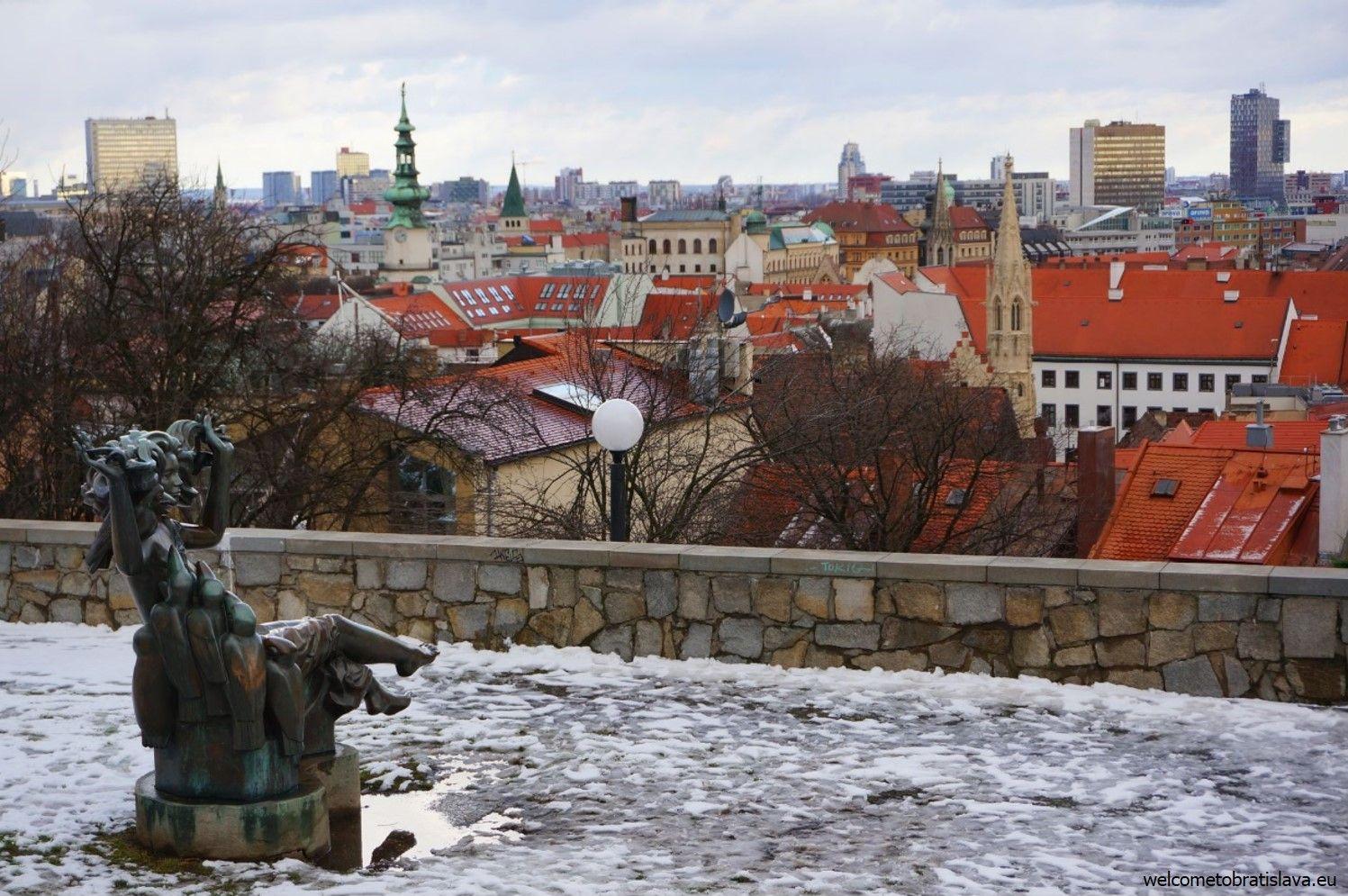 View on the Bratislava city