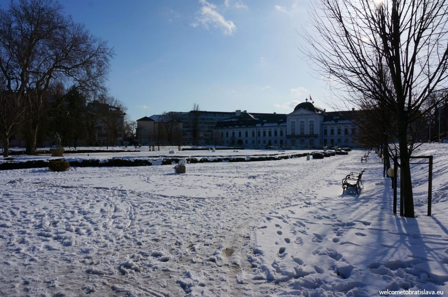 The French garden of our Presidential Palace