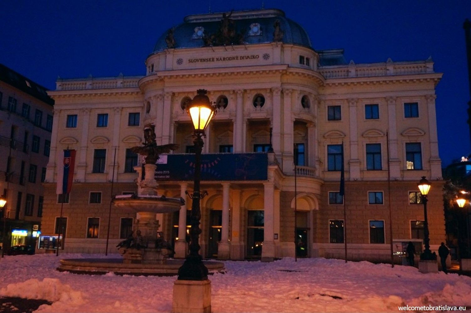 Our National Theater at the Hviezdoslav's square