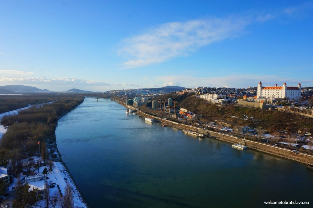 Valentines day in Bratislava - view from the UFO Tower