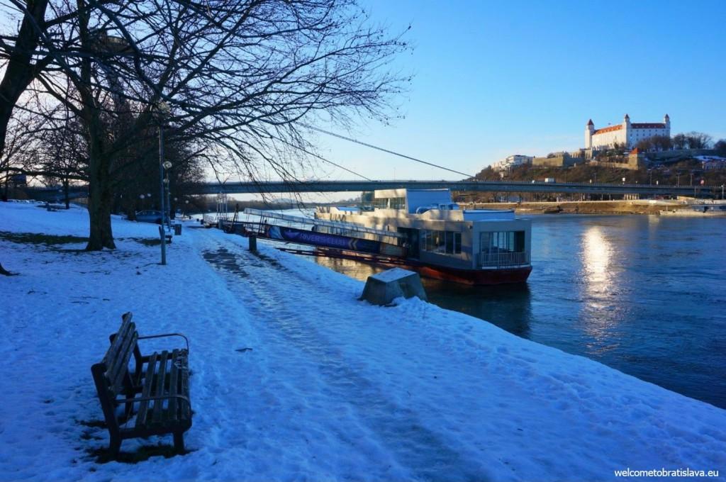 Valentines day in Bratislava - view from the Tyršovo nábrežie