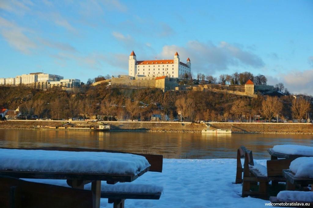 Valentines day in Bratislava - view from the Aušpic restaurant