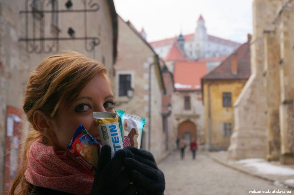 A Slovak protein bar, Horalka and Mila - some of our traditional crackers
