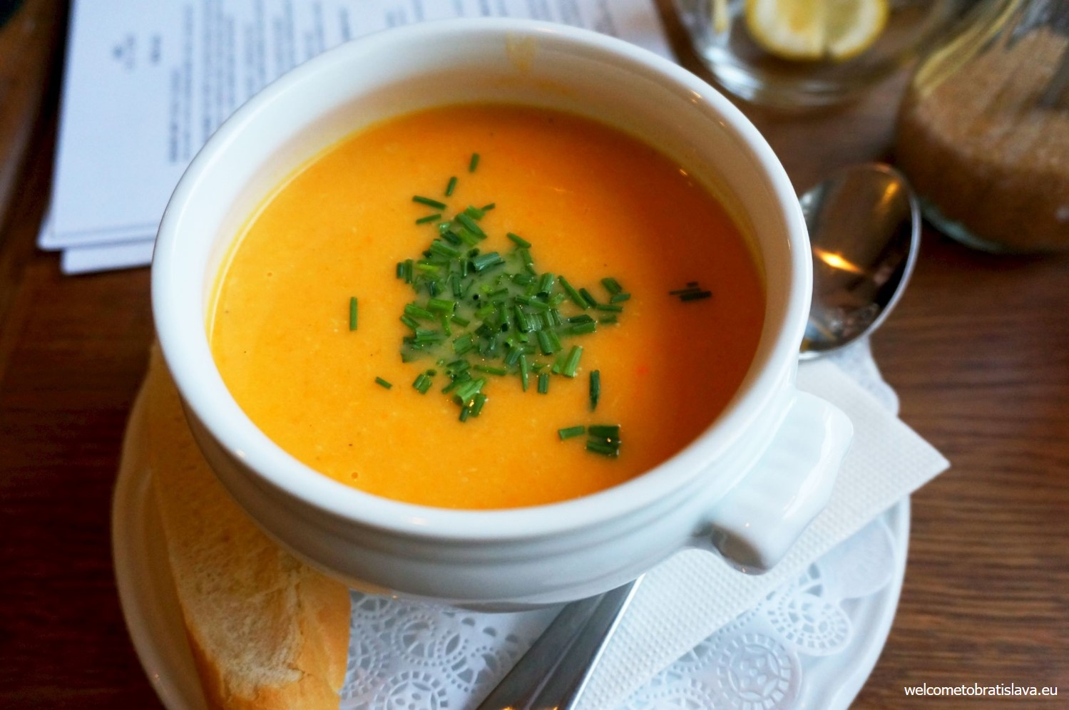 In the autumn and winter time St. Germain includes soups to their menu.