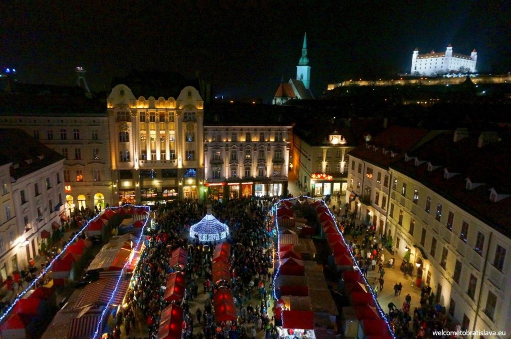 Christmas markets time: view from the Town Hall