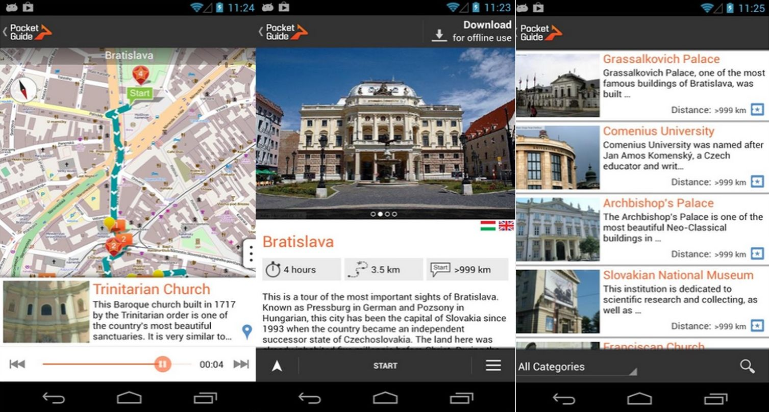 Bratislava pocket guide application