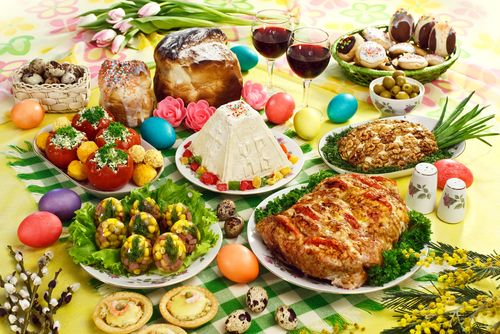 Traditional Slovak Easter menu
