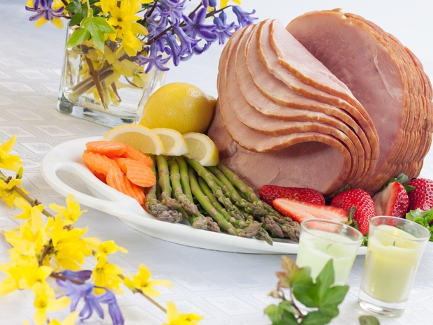 Traditional Slovak Easter ham