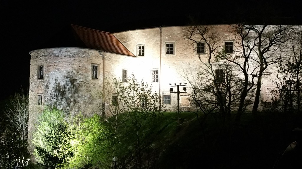"""""""I like the atmosphere of illuminated trees swinging in the wind and their shadows projected onto the castle walls."""""""