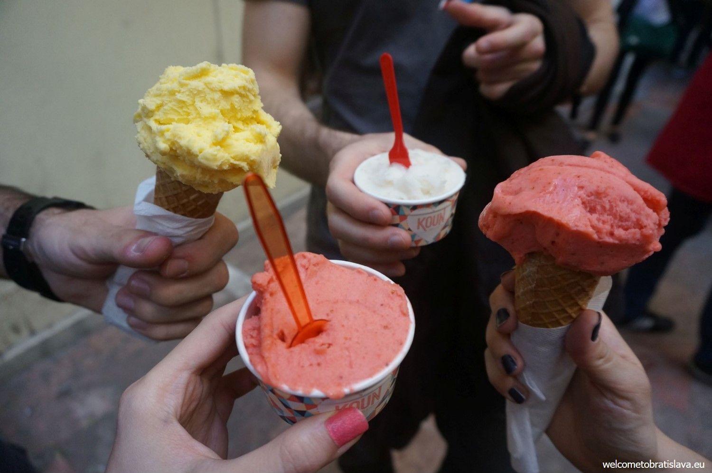 Bio ice cream in Koun
