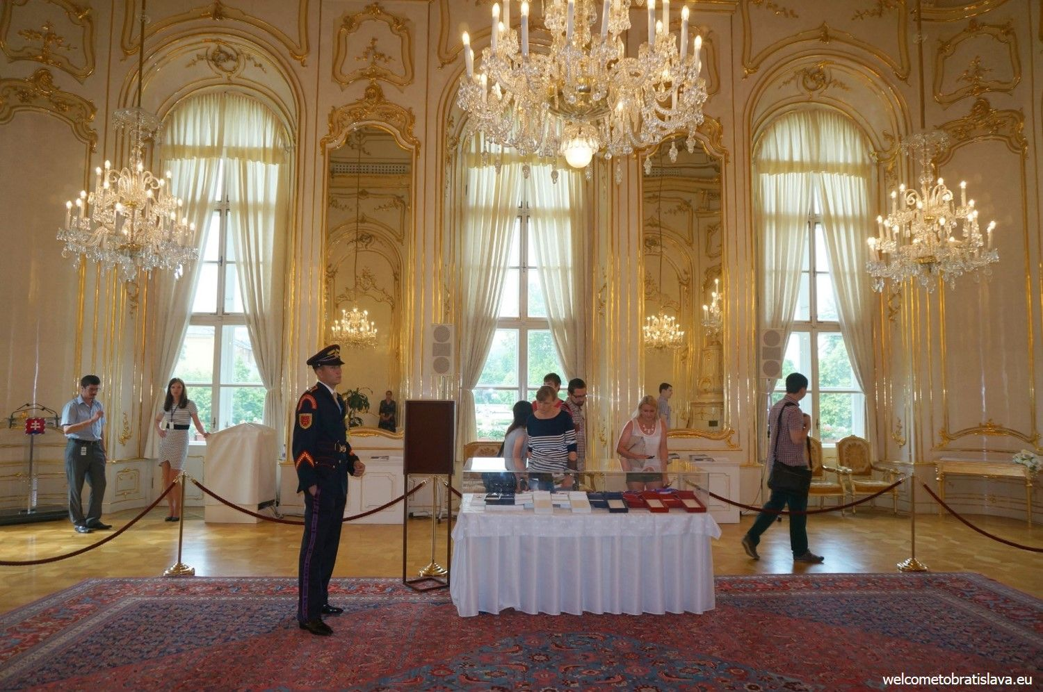 This Originally Musical Salon Of The Palace Is Also Decorated With A Glass  Chandelier From Czech Republic.