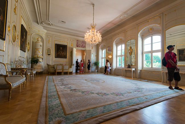 The reception salon