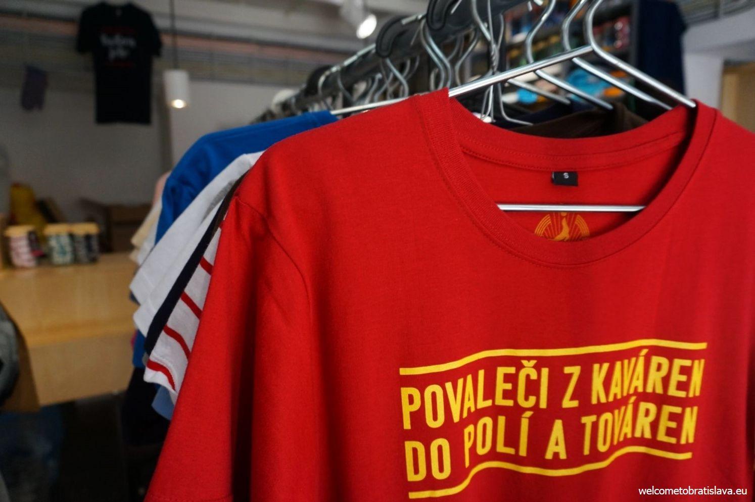 Kompot is full of original T-shirts.