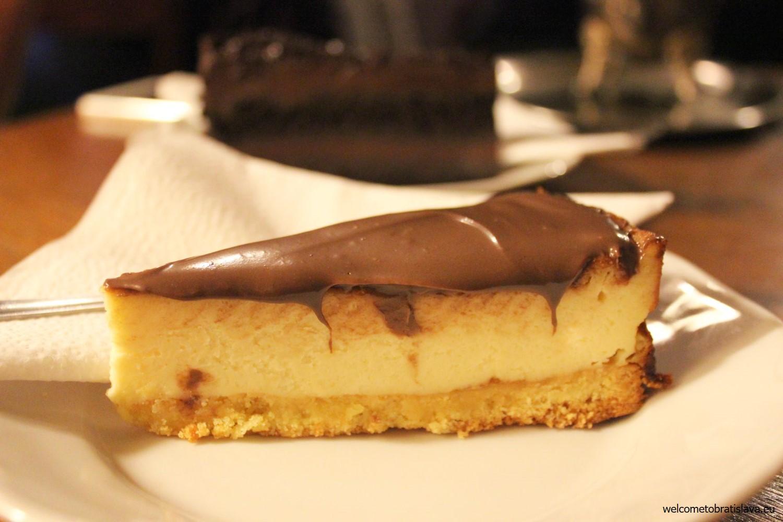 A nougat cheesecake