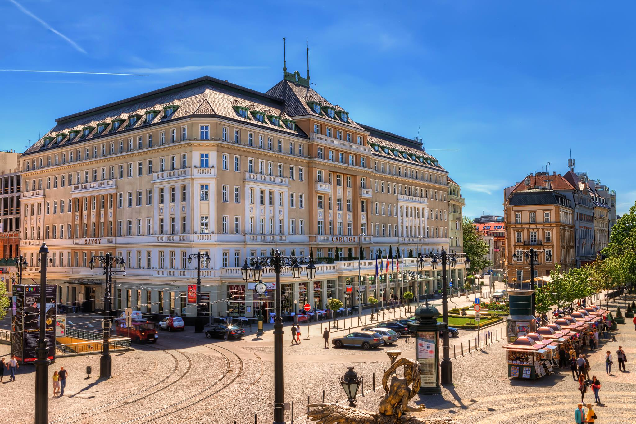 Raddisson Carlton Hotel at the iconic Hviezdoslav's Square