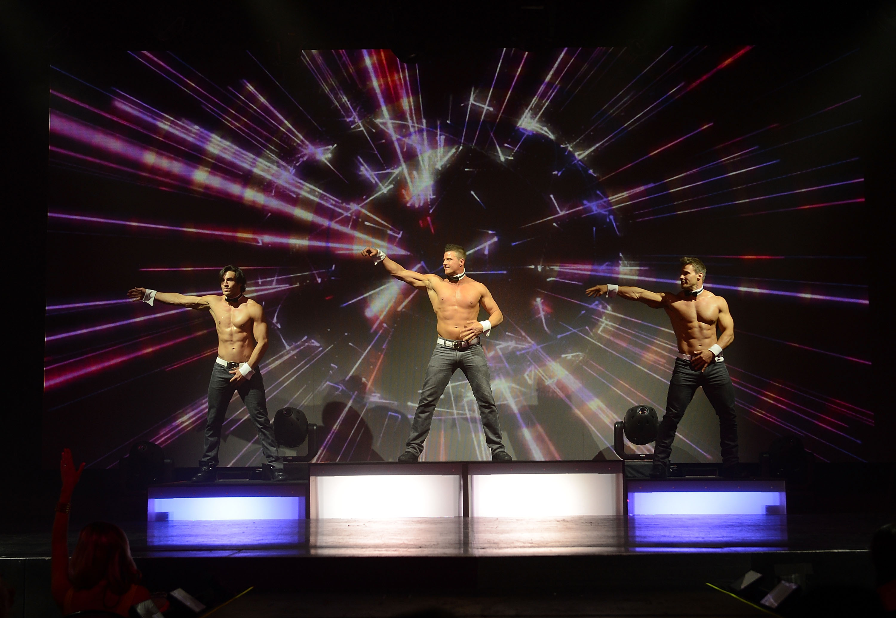 LAS VEGAS, NV - MAY 01: Chippendales performs at the Rio on May 1, 2015 in Las Vegas, Nevada. (Photo by Denise Truscello/WireImage)