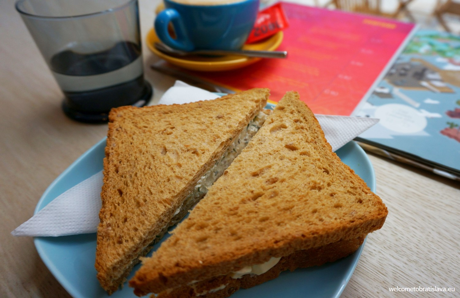 They have many kinds of small sandwiches which you can combine depending on how hungry you are.