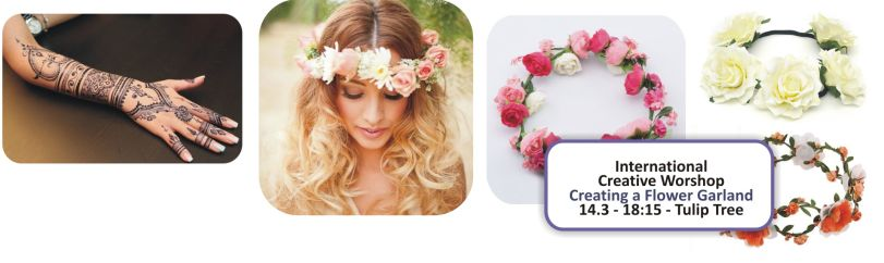 INTERNATIONAL CREATIVE WORKSHOP – CREATING FLOWER GARLANDS