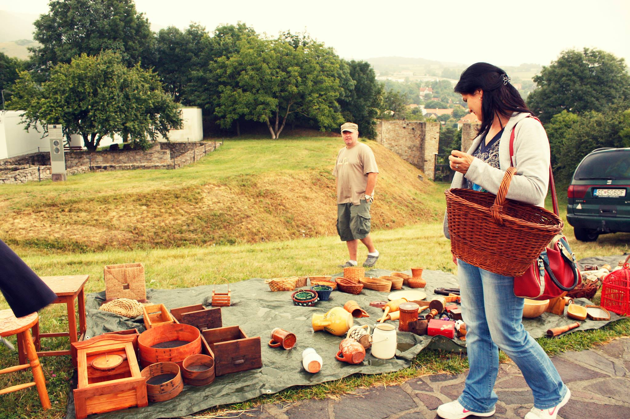 Bazaar at the Devin Castle