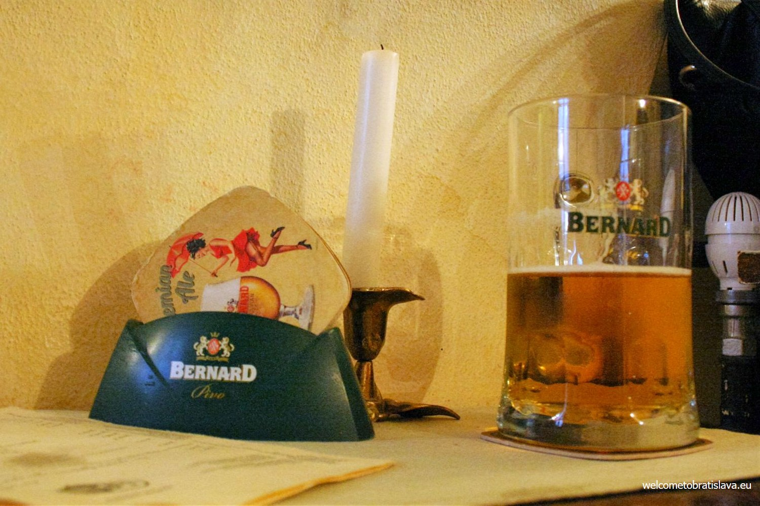 They are offering popular Czech family beer Bernard and you can choose from drafted light 10° classic lager, stronger 14°, a bit more distinctive Bohemian Ale or special dark 12°