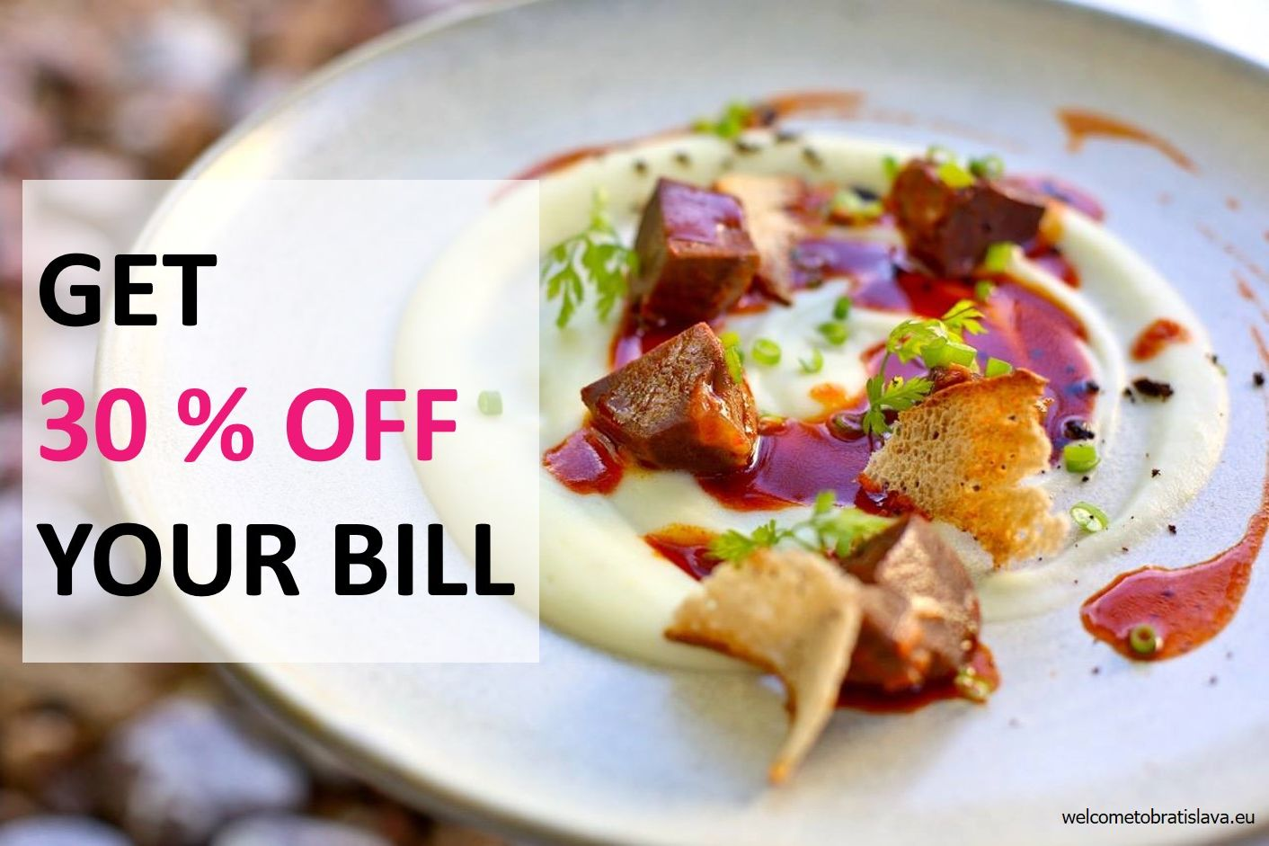 get 30 percent off your bill_welcometobratislava