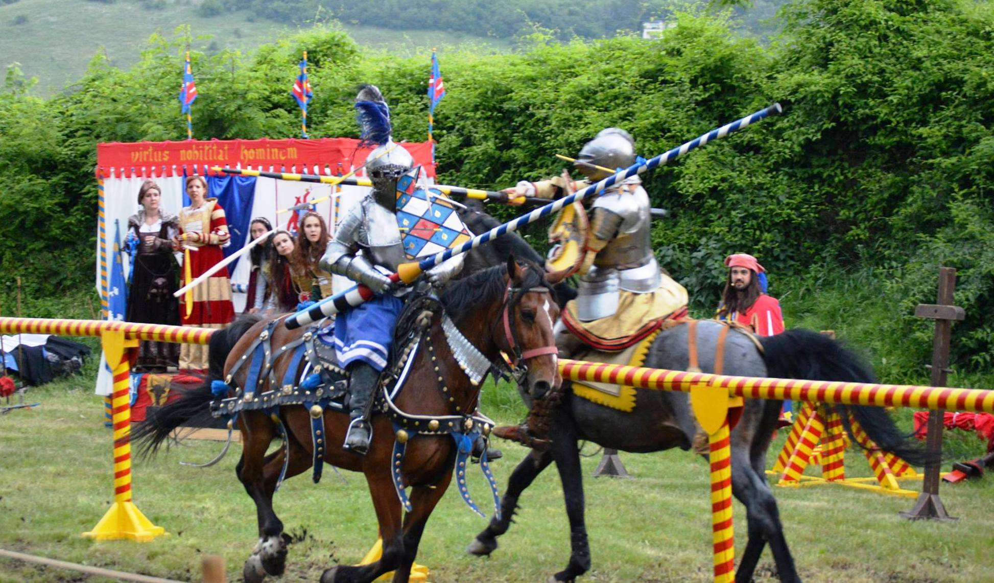 medieval knights show at the devin castle