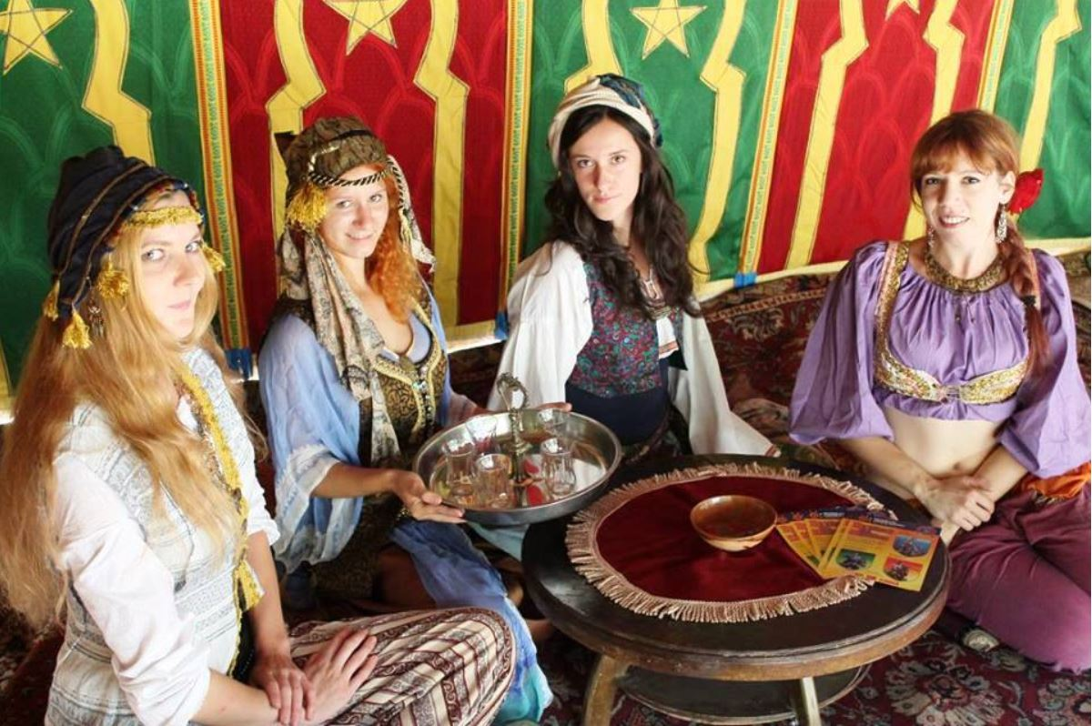 medieval knights show at the devin castle - oriental tearoom