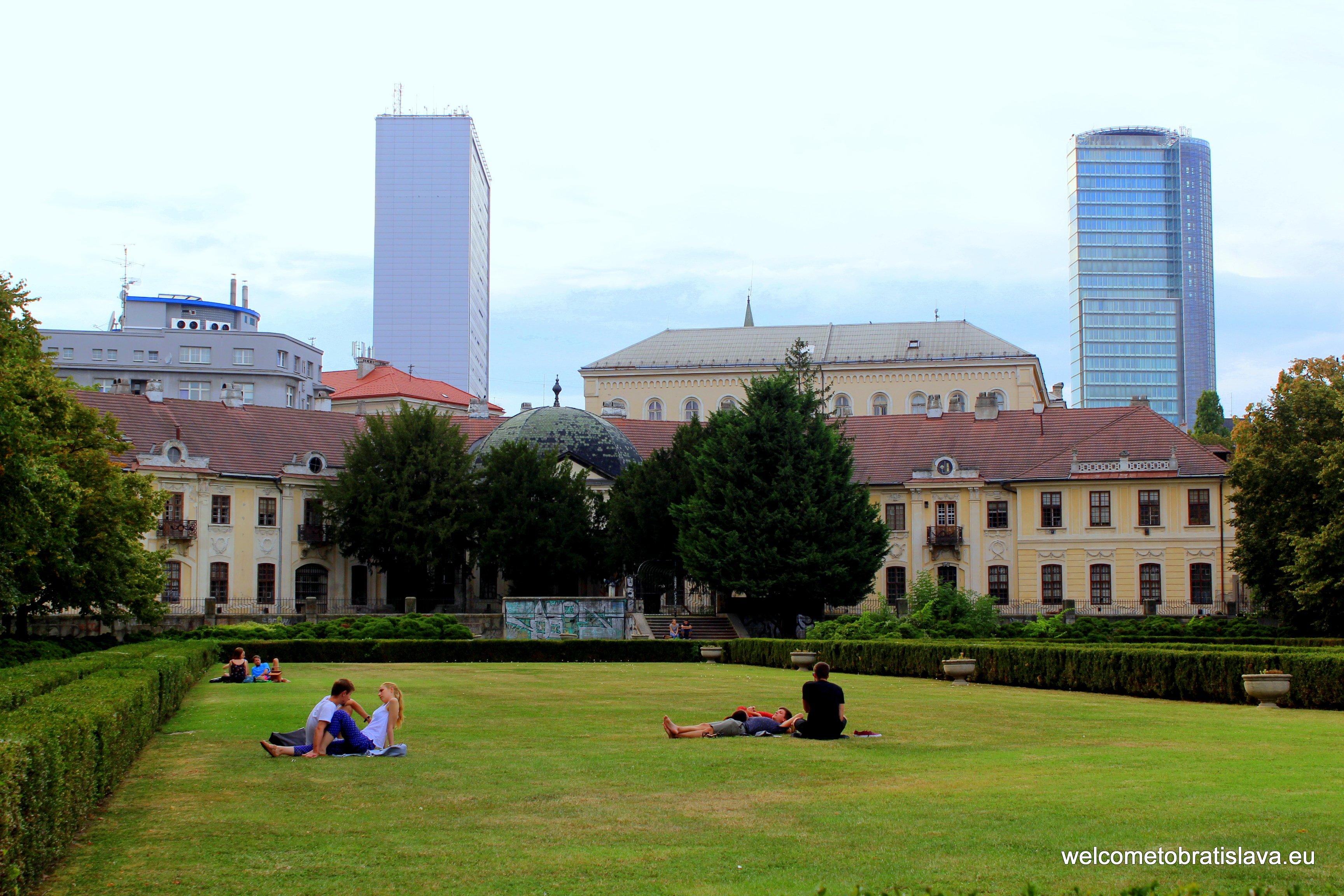 Picnic spots in Bratislava - Medical Garden