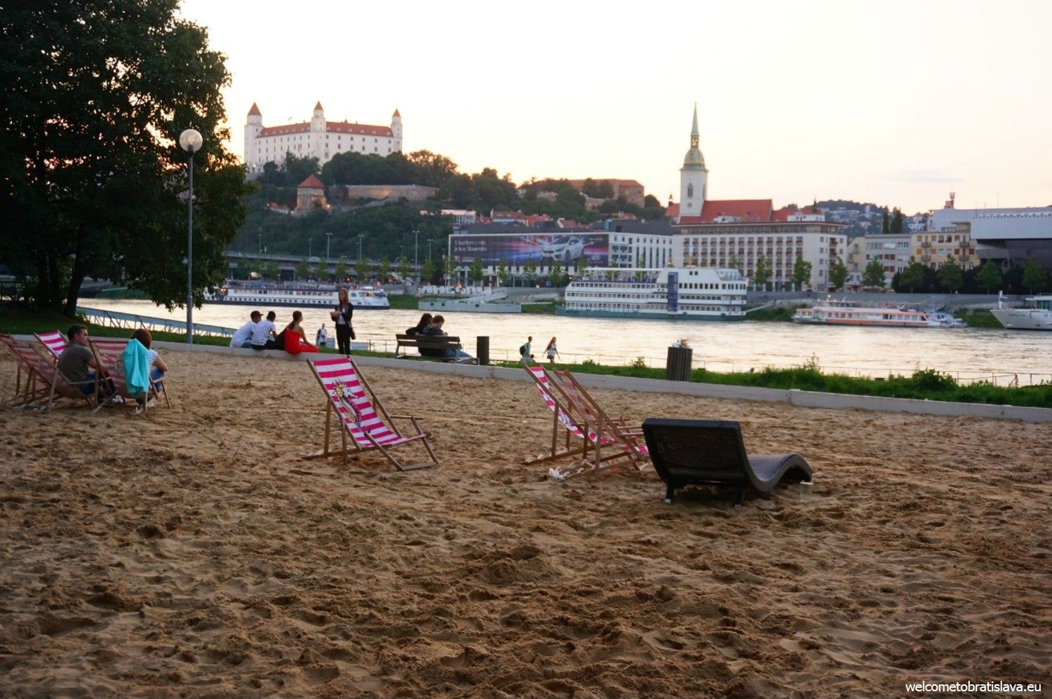 Outdoor places for kids in Bratislava - Magio Beach