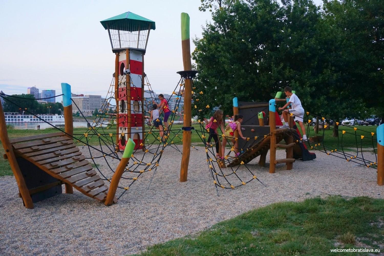 Outdoor places for kids in Bratislava - Magio Beach