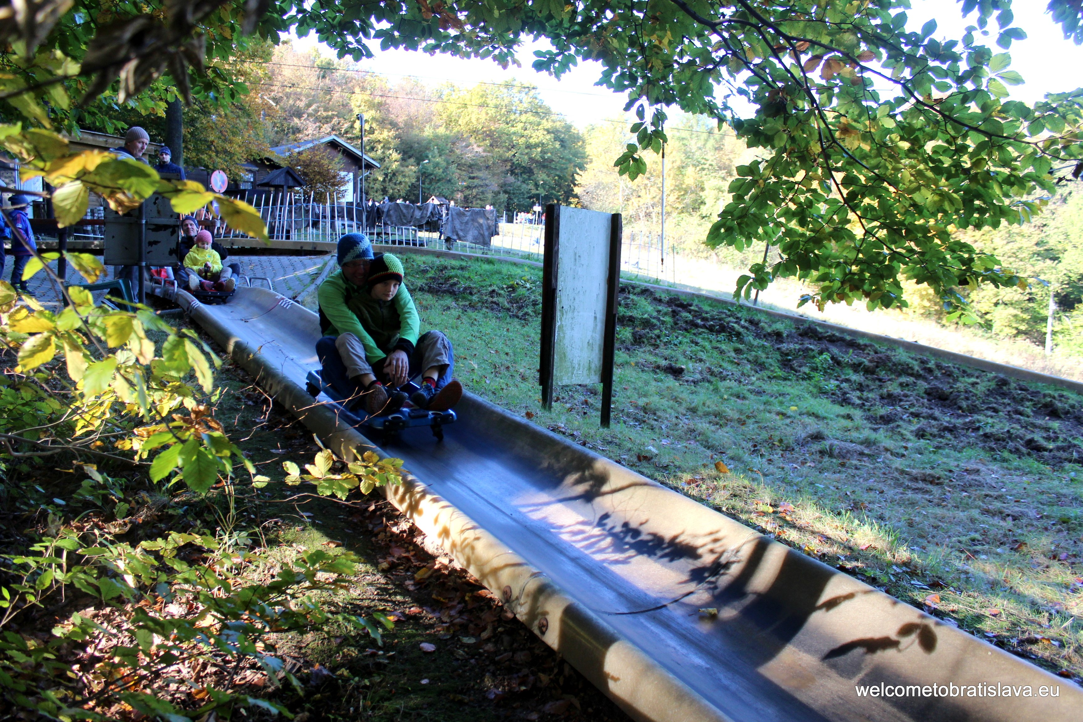Outdoor places for kids in Bratislava - bobsled Koliba