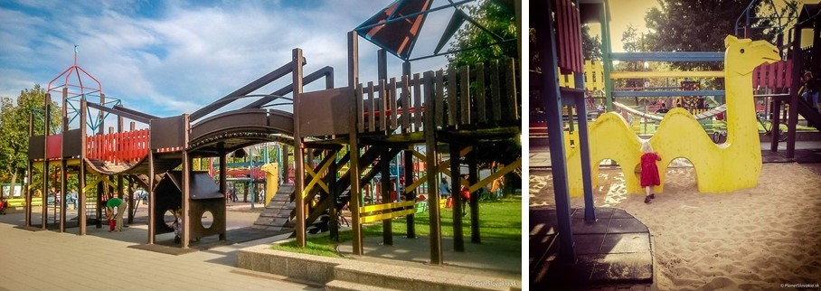 Outdoor places for kids in Bratislava - Areal hier Radost