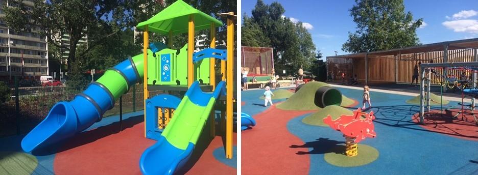 Outdoor places for kids in Bratislava - Riverparcik