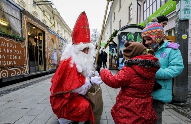 Mikulas Celebration In Slovakia