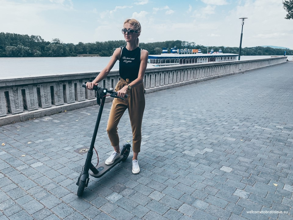 Renting electric scooters in Bratislava